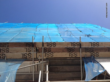 Scaffolding and Sky